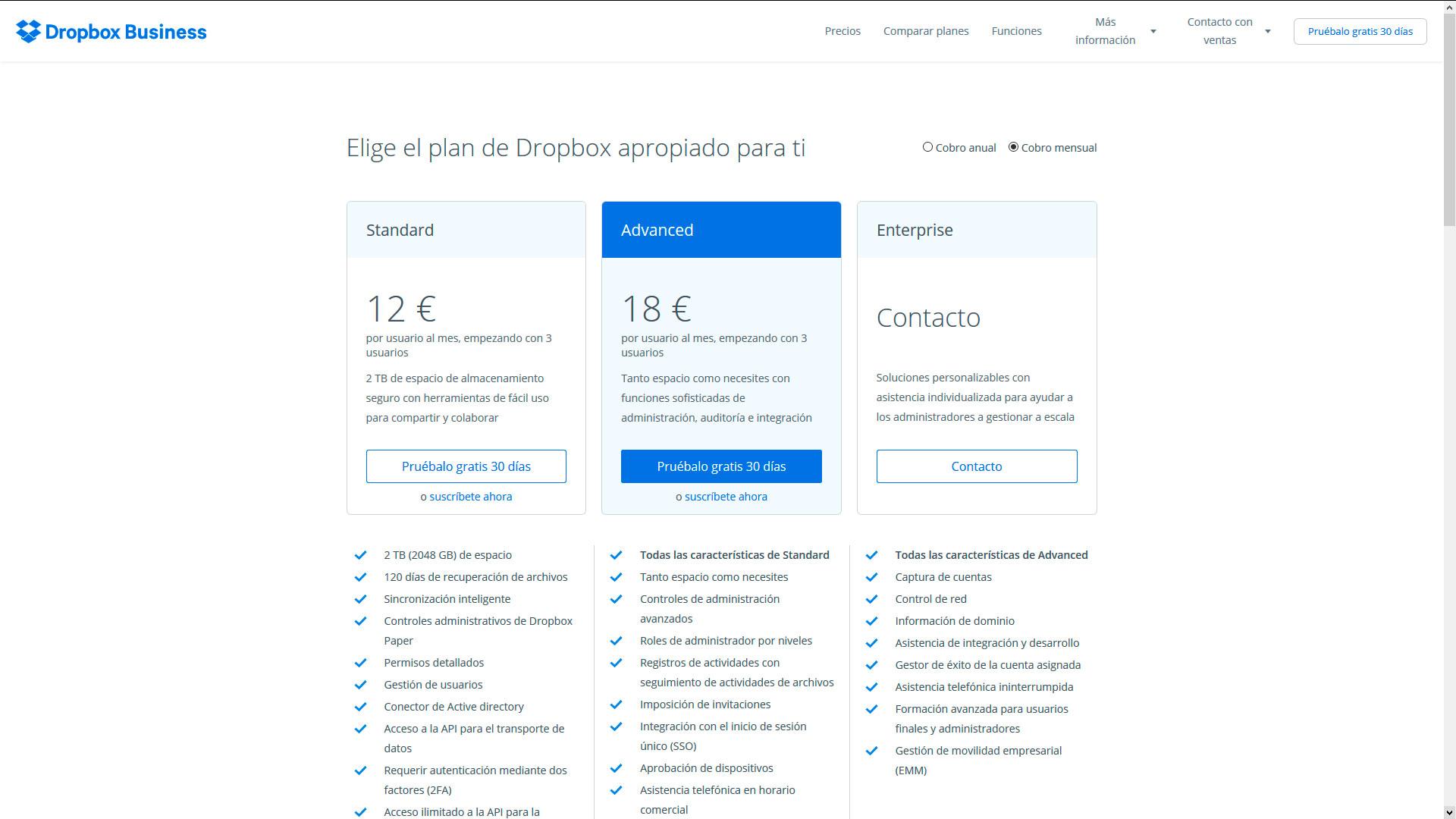 Dropbox para empresas