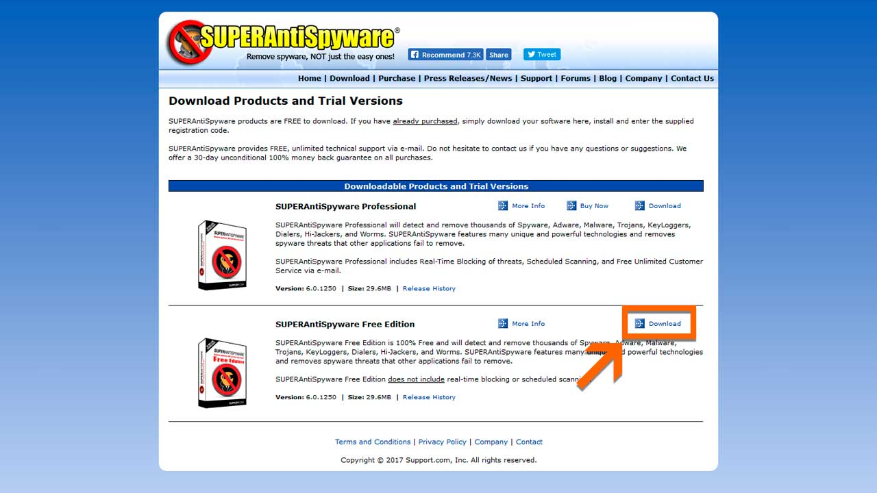 Descargar SUPERAntiSpyware