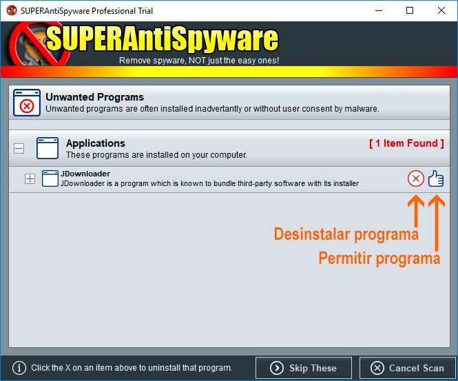 SUPERAntiSpyware Unwanted Programs